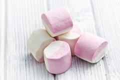 sweet marshmallows - stock photo