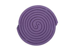 Purple mosquito spiral coil. Stock Photos