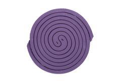 purple mosquito spiral coil. - stock photo