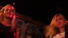 Girls dance in night club Stock Footage