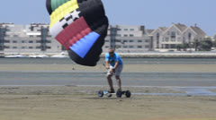 Costa on a landing kite Stock Footage
