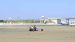 Ricardo Costa on a Kitebuggy Stock Footage