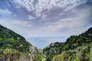 Stock Photo of Positano Italy above
