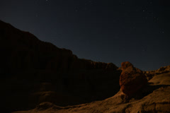 4K Astrophotography Time Lapse Moon Shadow and Sandstone Stock Footage