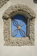 window decoration in dahab, red sea, sinai, egypt - stock photo