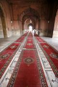Matot käytävällä, Masjid, Delhi, Intia Kuvituskuvat