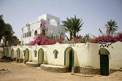 beautiful budget hotel in dahab, sinai, egypt - stock photo