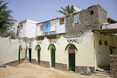 budget hotel in dahab, sinai, egypt - stock photo