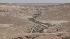 Ein Avdat Canyon. Israel Stock Footage