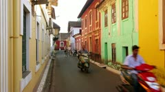GOA, INDIA - MARCH 2013: Old colonial architecture of Old Goa Stock Footage