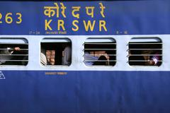 Train at railway station, mumbai, india Stock Photos