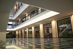 upper class shopping mall - stock photo