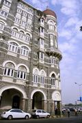 Streetside view of taj mahal hotel, mumbai, india Stock Photos