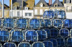 Lobster pot at Le Croisic in France Stock Photos