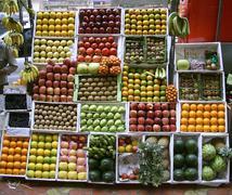 Fruit stall on footpath, mumbai, india Stock Photos