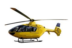 Rescue helicopter isolated Stock Photos