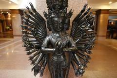 Durga goddess with many arms in hotel lobby, kathmandu, nepal Stock Photos