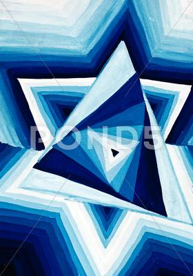 Stock Illustration of abstract geometric triangular ornament