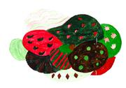 Stock Illustration of abstract stylized berry