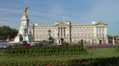 Buckingham Palace Zoom-in Stock Footage