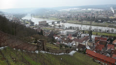 Pan shot over Klingenberg am Main - Germany 10936 Stock Footage