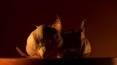 garlic buds - stock footage