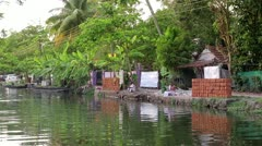 ALLEPPEY, KERALA, INDIA - MARCH 2013: Everyday scene in Kerala Backwaters - stock footage