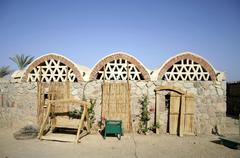 basata eco resort on the red sea, sinai, egypt - stock photo