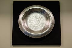 modern iron dishes - stock photo