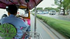 Richshaw in bangkok Stock Footage