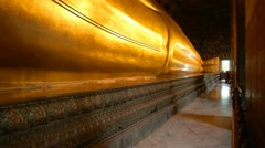 Reclining Buddha Stock Footage
