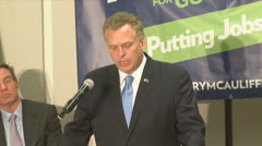 Governor McAuliffe Stock Footage