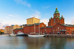 Old Town in Helsinki, Finland Stock Photos