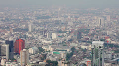 Views over tall buildings of the city. thailand, bangkok Stock Footage