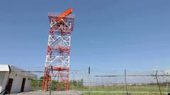 Radar tower at airport Stock Footage