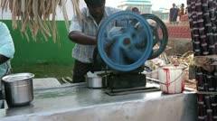 KANYAKUMARI, TAMIL NADU, INDIA - MARCH 2013: Domestic melassa production on Stock Footage