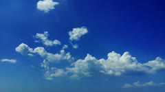 1920x1080 video - time lapse of blue sky and moving white clouds Stock Footage