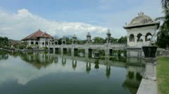 Water temple in Bali Stock Footage