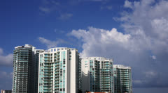 Miami Time Lapse Clouds Ultra-HD 4K Stock Footage