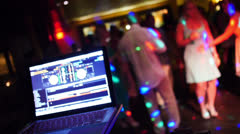 Wedding Reception Dancers and DJ - stock footage