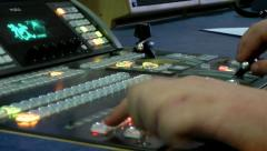 Broadcast TV Studio Production -Television Vision Switcher - stock footage