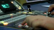 Stock Video Footage of Broadcast TV Studio Production -Television Vision Switcher