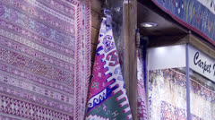Grand Bazaar - Carpet Shop#1 Stock Footage