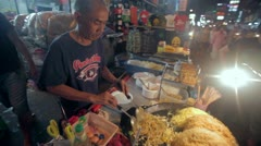 Khao San road cooking Stock Footage
