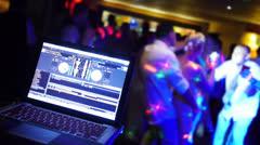 Wedding Reception Dancers and DJ - stock footage