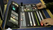 Stock Video Footage of Broadcast TV Studio Production - Television Vision Switcher