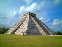 chichenitza temple, mexico - stock photo