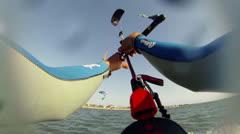 Paulo Azevedo's Kitesurfing POV Stock Footage