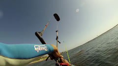 Paulo Azevedo's Kitesurfing POV - stock footage