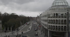 City Scape 4 - Ireland, Dublin - St. Stephens Green Stock Footage